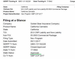 Approved filing for Golden Bear
