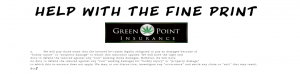 insurance policy fine print assistance