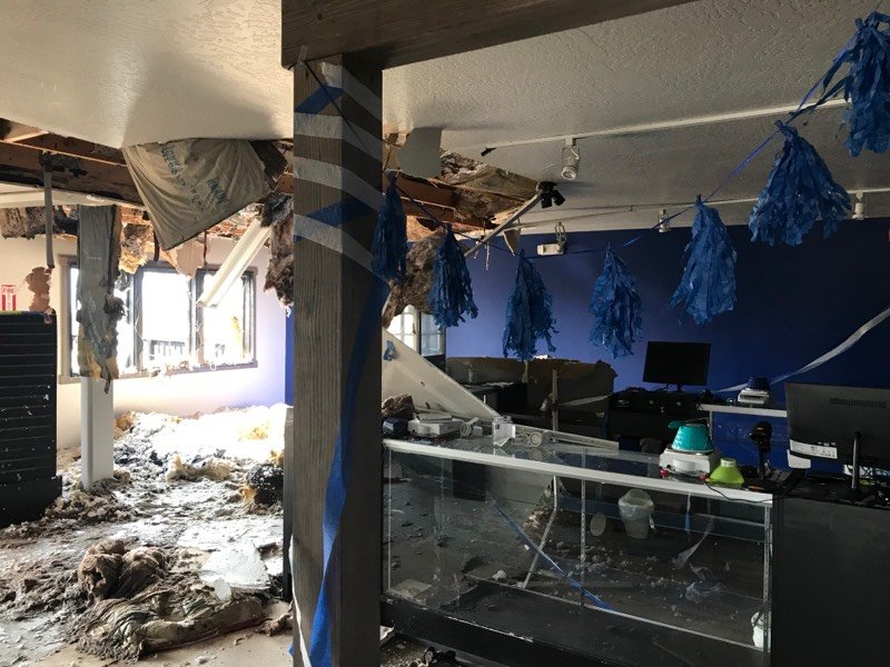 Arson Damage inside Chronic Therapy