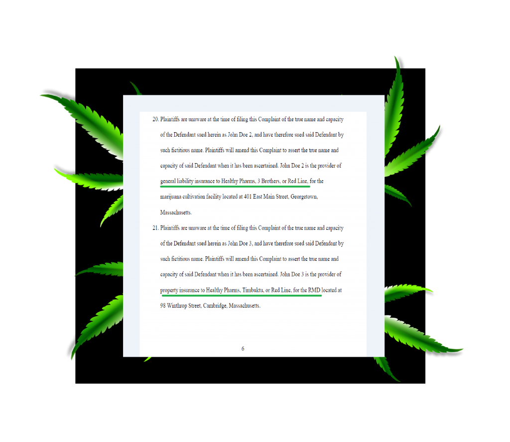 Rico Lawsuit Naming Cannabis Insurance Carriers
